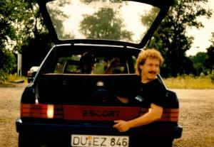 Atze hatte volles Vertrauen an Carsten Fahrkünste (2.Platz der rallye)